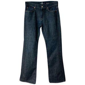 7 for all mankind Blue Dark Rinse Denim Jeans
